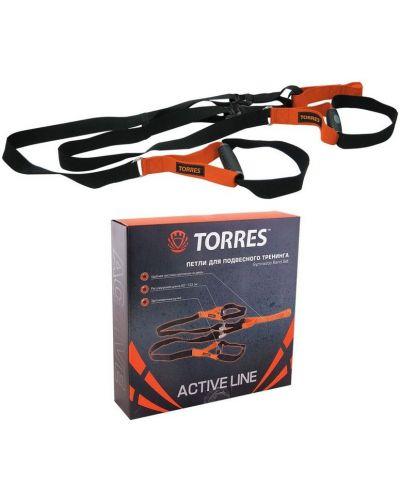 Ремень черный оранжевый Torres