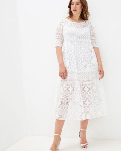 Прямое белое платье А-силуэта Grafinia