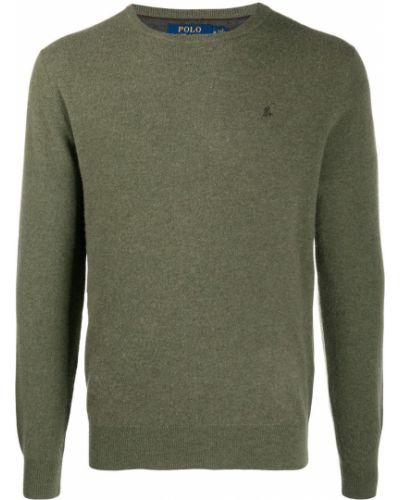 Prosto koszulka polo z haftem khaki z długimi rękawami Polo Ralph Lauren