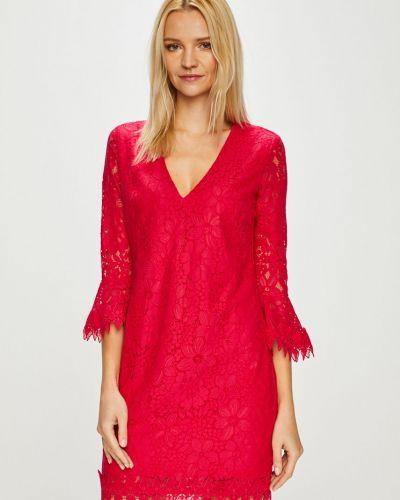 Розовое платье мини на молнии Guess Jeans