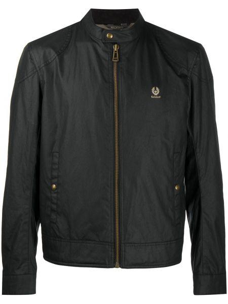 Czarny bawełna bawełna długa kurtka z długimi rękawami Belstaff