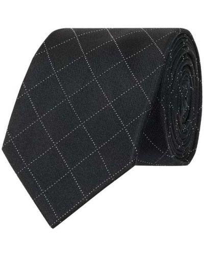 Czarny krawat z jedwabiu Ck Calvin Klein