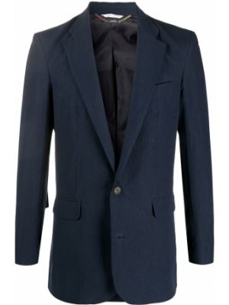Однобортный синий пиджак с карманами Aries