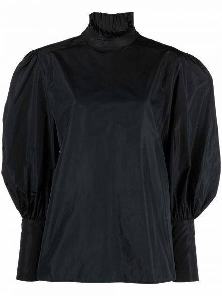 Черная шелковая блузка Alberta Ferretti