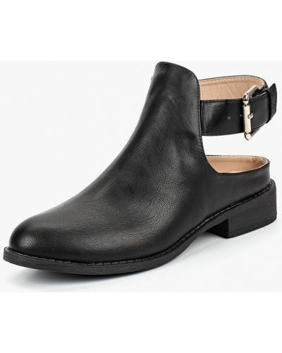 Кожаные ботинки осенние на каблуке Lost Ink.