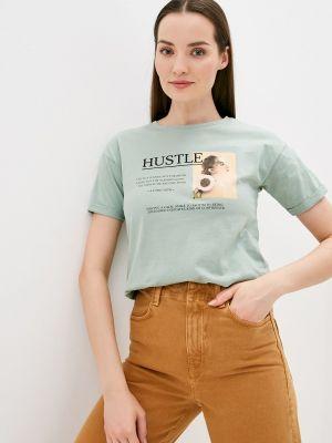 Зеленая футболка с короткими рукавами Savage