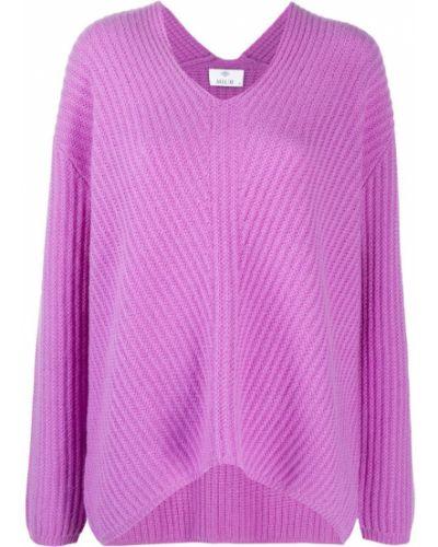 Свободные кашемировый фиолетовый джемпер свободного кроя Allude