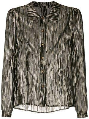 Шелковая рубашка - черная À La Garçonne
