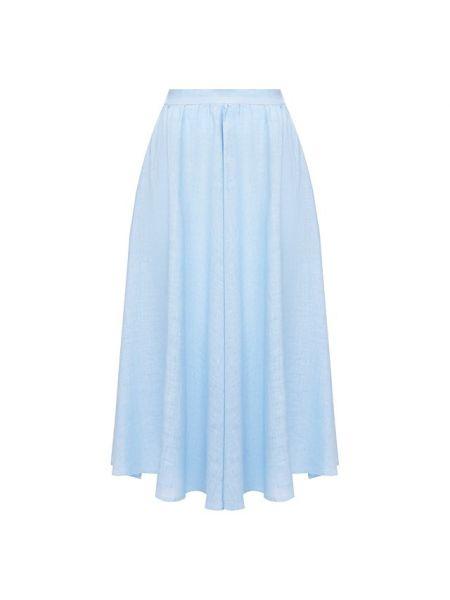 Льняная юбка - синяя 120% Lino