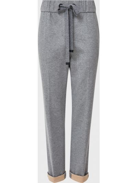 Хлопковые серые брюки Cappellini