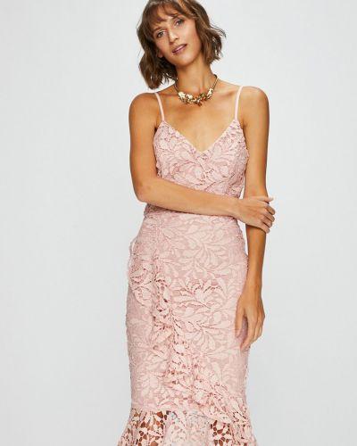 Платье миди однотонное с V-образным вырезом Answear