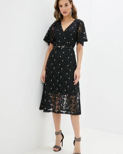 Черное платье с запахом Yumi