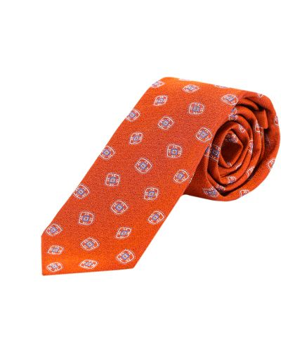 Pomarańczowy krawat Kiton