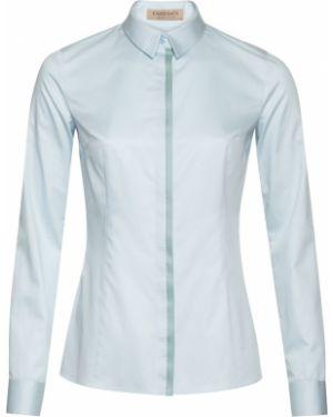 Блузка с длинным рукавом из органзы приталенная Vassa&co