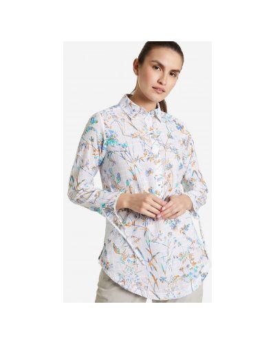 Хлопковая белая рубашка с длинным рукавом с длинными рукавами Columbia