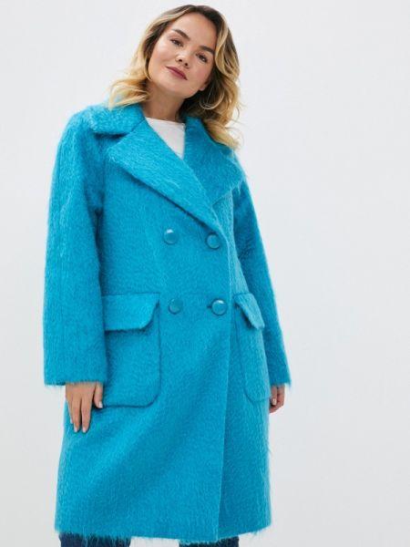 Бирюзовое пальто с капюшоном Gamelia
