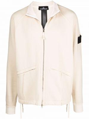 Длинная куртка - белая Stone Island Shadow Project