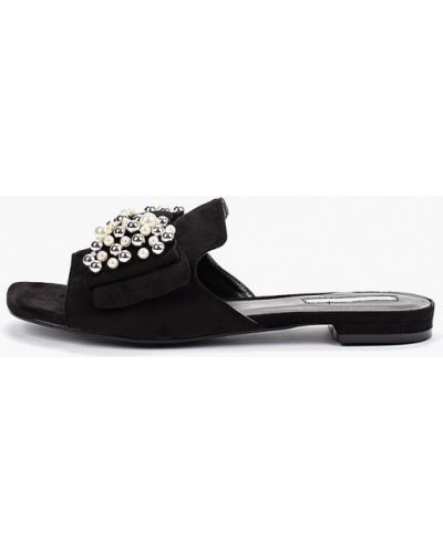 Сабо черные на каблуке Inario