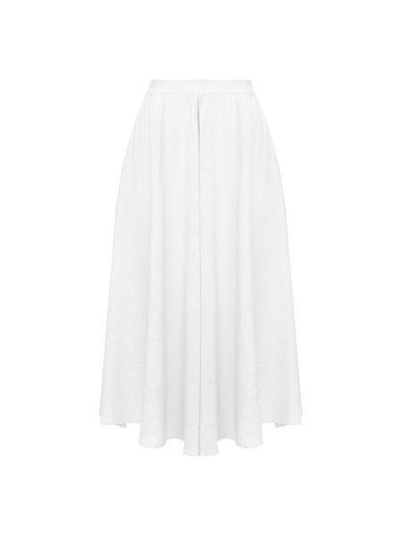 Белая льняная юбка 120% Lino