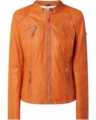 Pomarańczowa kurtka skórzana Cabrini