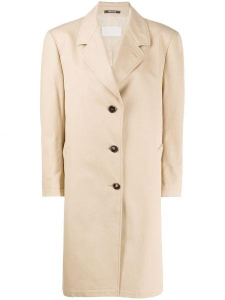 Długi płaszcz zapinane na guziki z kieszeniami Maison Margiela