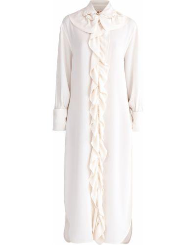 Блузка с драпировкой асимметричная Marni