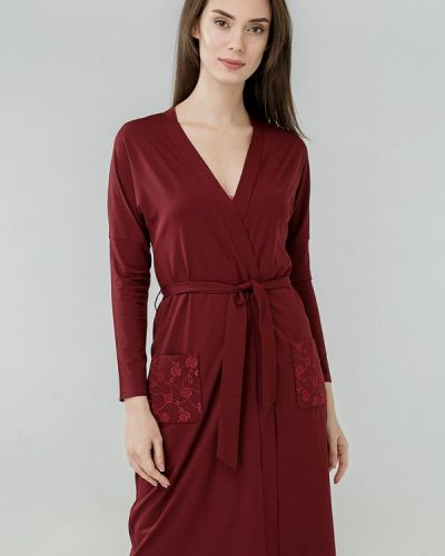 Домашний халат - бордовый Ora