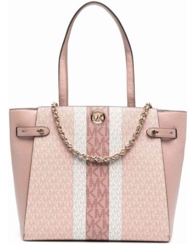 С ремешком розовая сумка на цепочке металлическая Michael Michael Kors