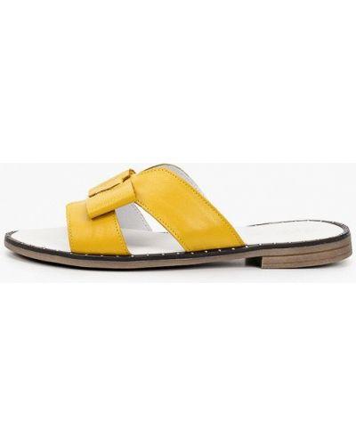Желтые кожаные сабо Der Spur