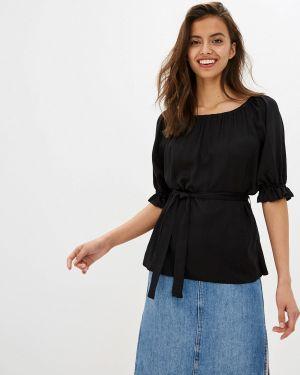 Блузка с открытыми плечами черная Po Pogode