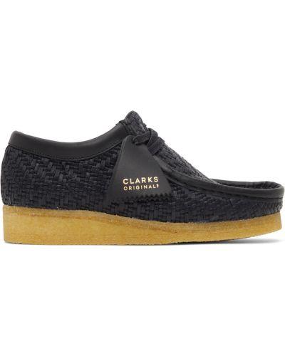 Półbuty skórzane - czarne Clarks Originals