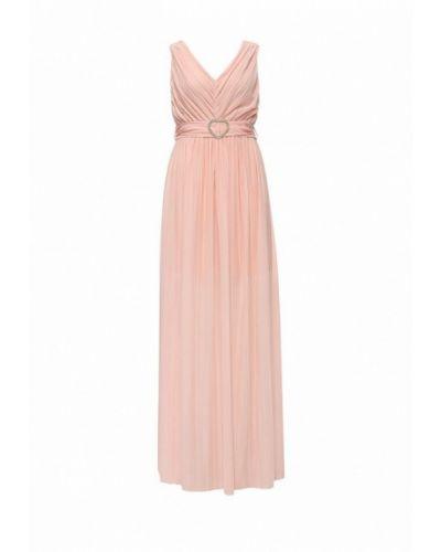 Платье макси розовое итальянский Rinascimento