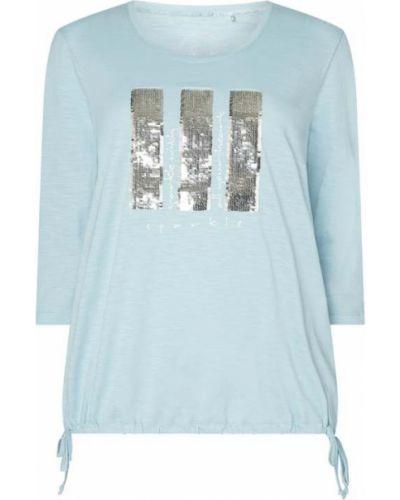 Bluzka z nadrukiem z printem - niebieska Samoon