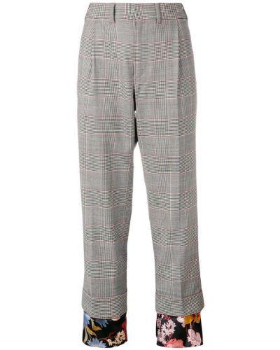 Черные брюки с воротником со складками с манжетами Snow Xue Gao