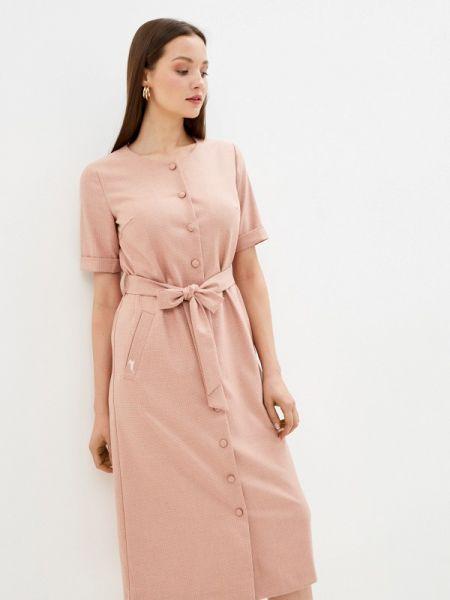 Платье розовое платье-рубашка Akhmadullina Dreams