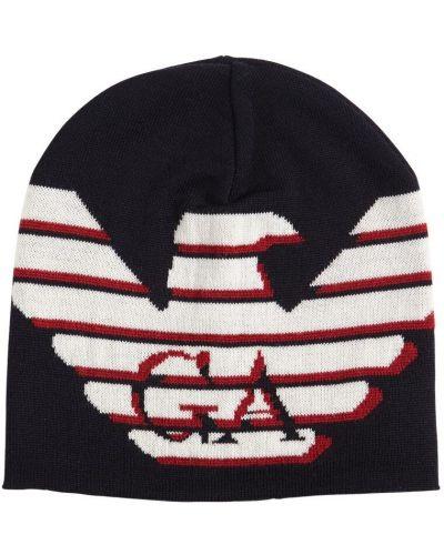 Wełniany kapelusz Emporio Armani