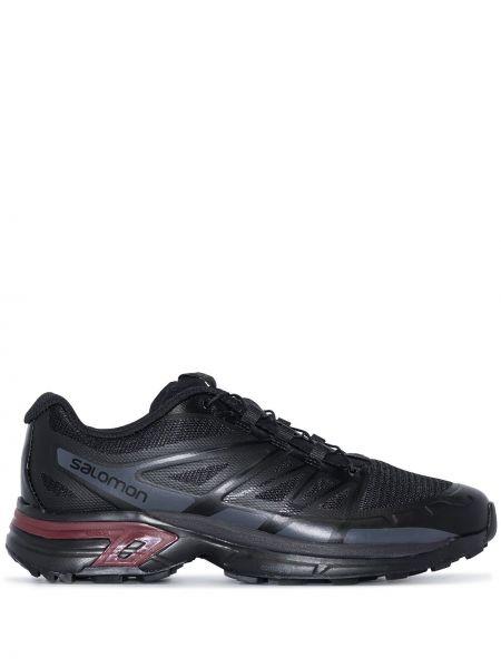 Массивные кроссовки - черные Salomon S/lab