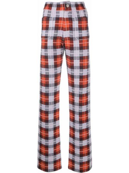 Хлопковые серые брюки с карманами Barrie