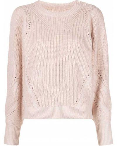 Розовый кашемировый длинный свитер круглый Apiece Apart