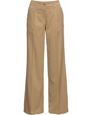 Свободные брюки бежевый деловые Bonprix