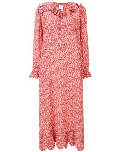 Платье красный с длинными рукавами Horror Vacui