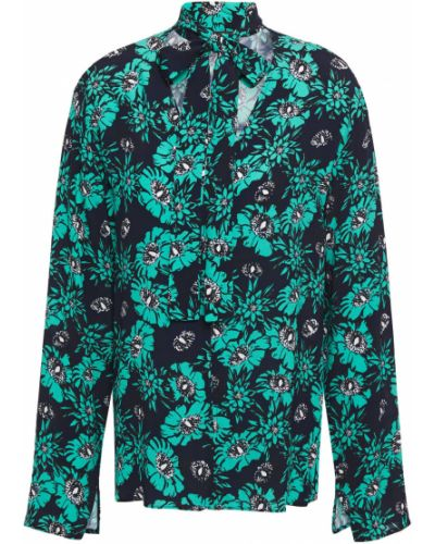 Bluzka z wiskozy - turkusowa Markus Lupfer