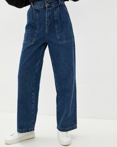 Синие расклешенные широкие джинсы Befree