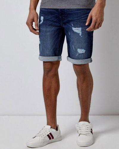 Джинсовые шорты синий Burton Menswear London