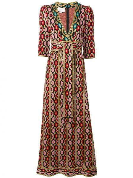 Платье макси с декольте повседневное Gucci