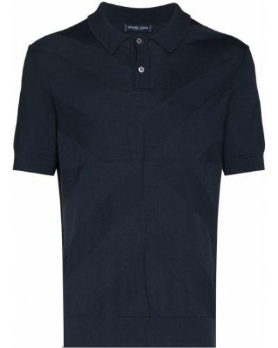 Niebieska koszula krótki rękaw bawełniana Frescobol Carioca