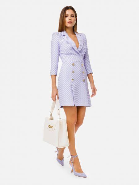 Фиолетовое платье на крючках Elisabetta Franchi