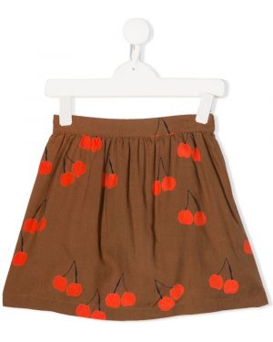 Коричневая юбка мини Mini Rodini