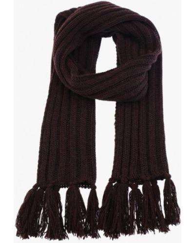 Коричневый шарф осенний Fomas