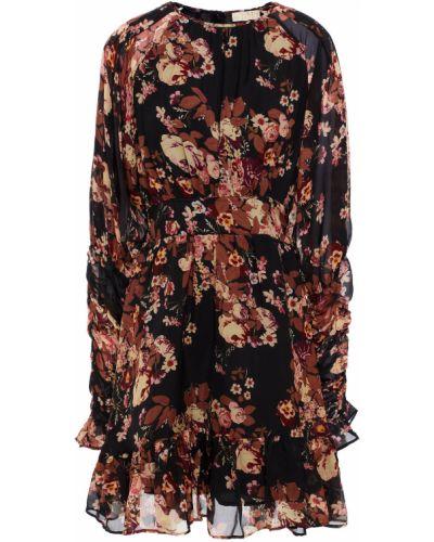 Czarna sukienka mini z szyfonu Bytimo